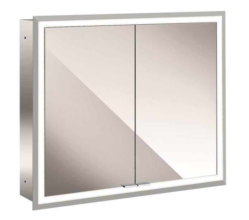 Emco Asis Prime inbouwspiegelkast met LED-verlichting en 2 deuren 80x73 cm, spiegel