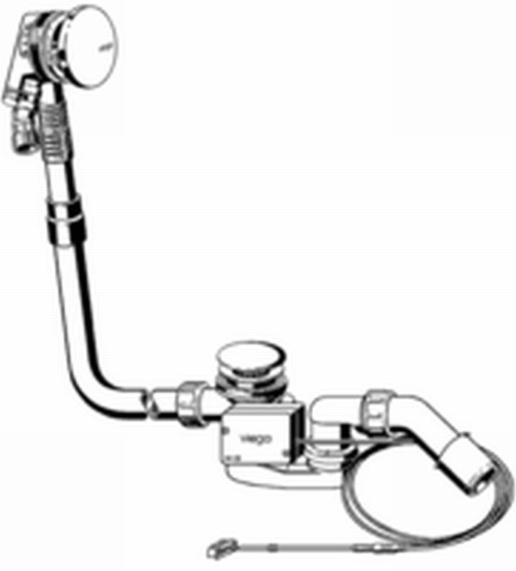 Viega Multiplex trio afvoer - overloop vlak 33 mm nodig achter bad, chroom