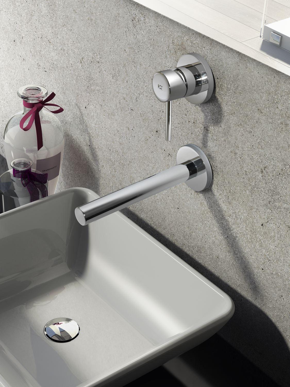 Hotbath Buddy inbouw1-hendel wastafelkraan met rechte uitloop, chroom