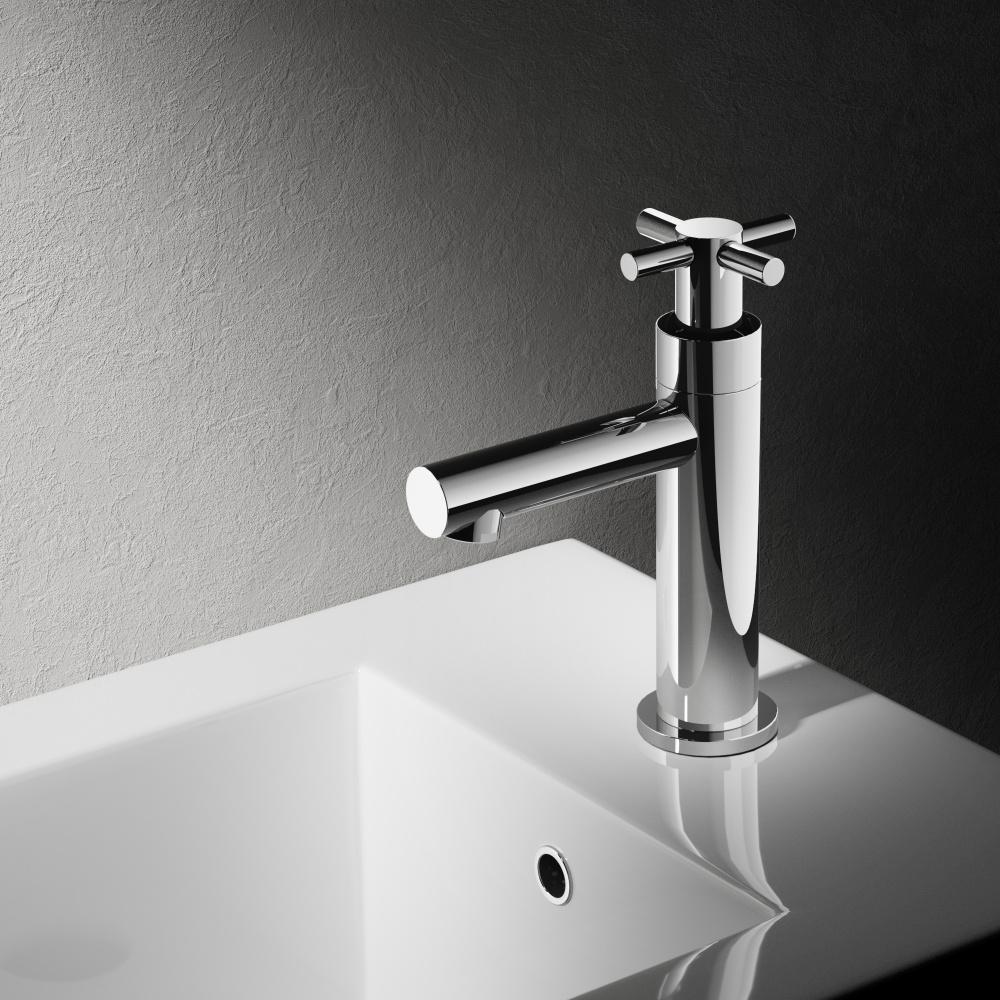 Hotbath Dude fonteinkraan, geborsteld nikkel