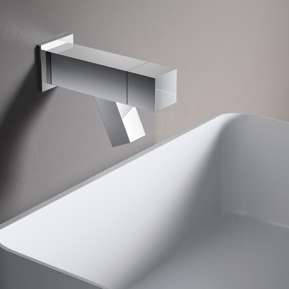 Hotbath Dude 1-knops fonteinkraan wandmontage, chroom