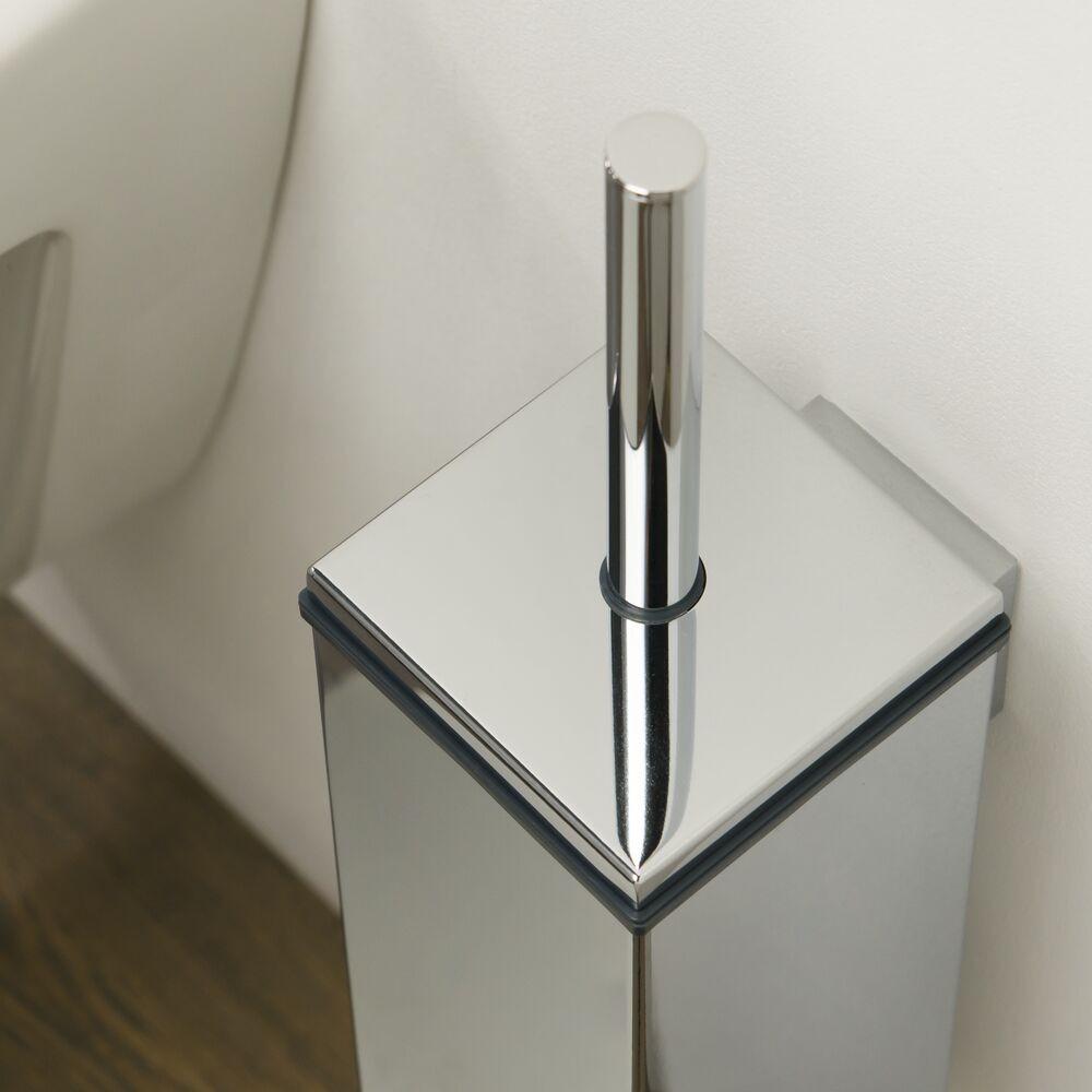 Tiger Items toiletborstel met houder rechthoekig 8,4 x 11 40 cm, chroom