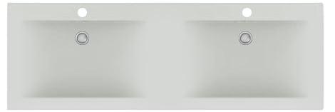 Sub 200 dubbele wastafel 121,2x46,5 cm, wit