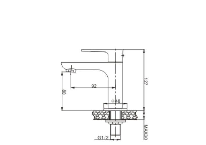 Wiesbaden Casma 1-hendel fonteinkraan, wit/, chroom