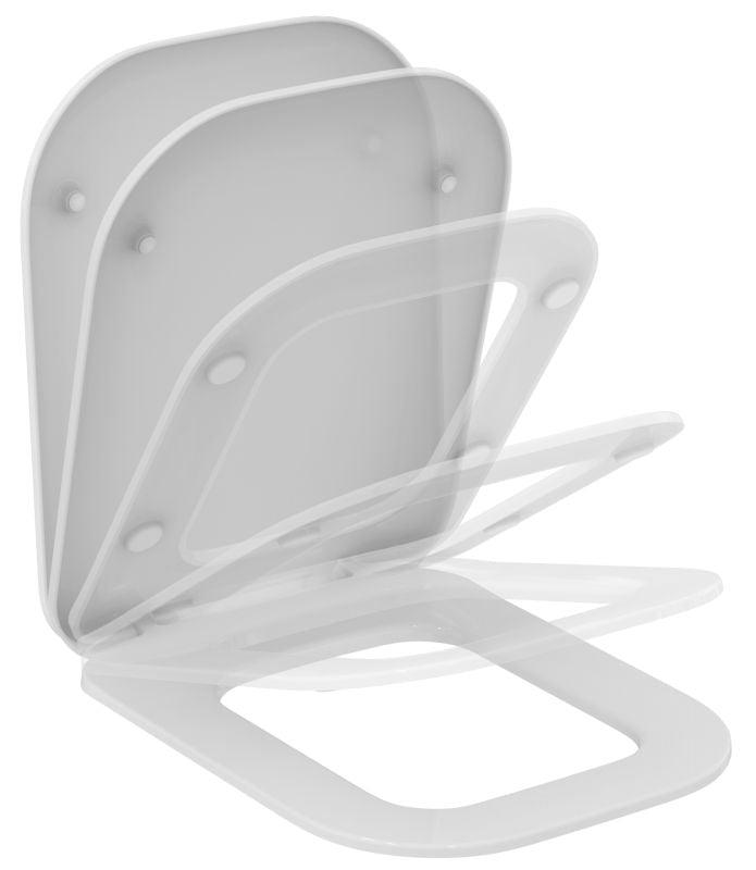 IDEAL STANDARD TONIC II closetzitting met deksel softclosing WIT (K706501)