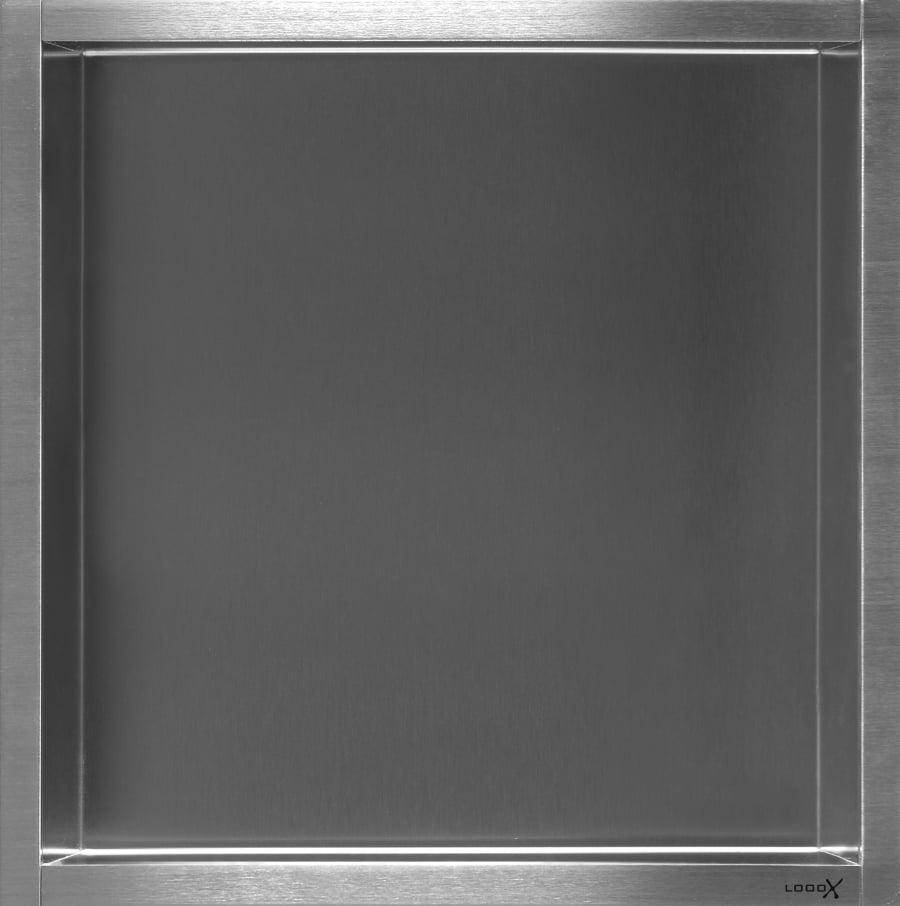 LoooX Box inbouwnis 30x30x10 cm, rvs geborsteld