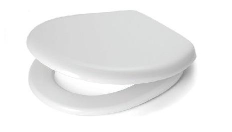 Plieger Royal closetzitting met deksel duroplast met rvs bevestigingsset wit