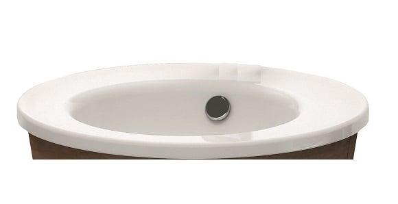 Duravit Starck 1 meubelwastafel 58 cm rond WonderGliss, wit