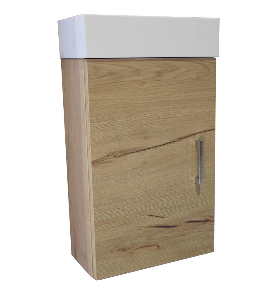 Luca Sanitair Olivi fonteinonderkast met deur links en/of rechts 52 x 34,5 x 18 cm, nativo naturale