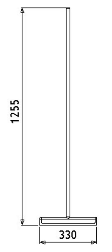 Luca Sanitair vloerwisser met ophanghaakje gepolijst 32x125 cm, RVS gepolijst