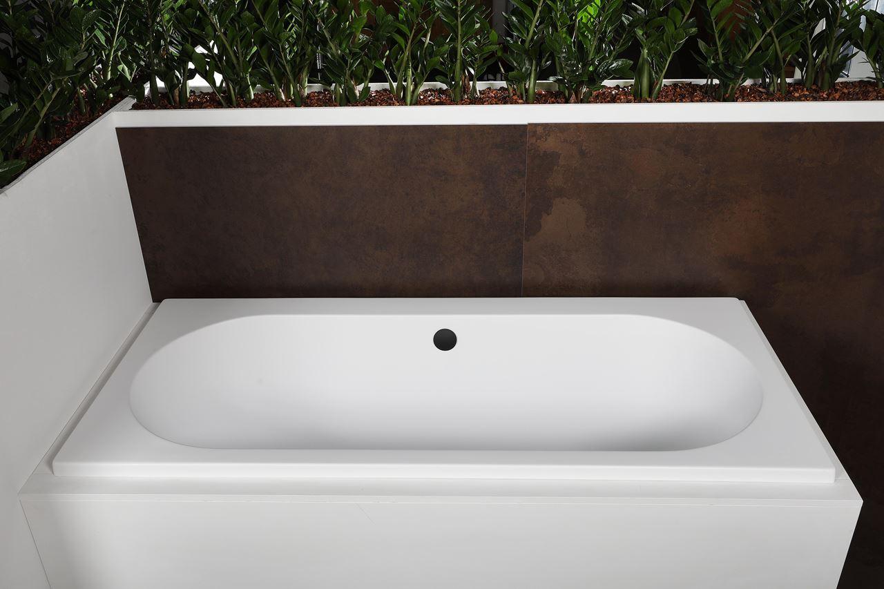 Luca Sanitair Primo inbouwbad inclusief stelpoten 180 x 80 x 49 cm, glanzend wit