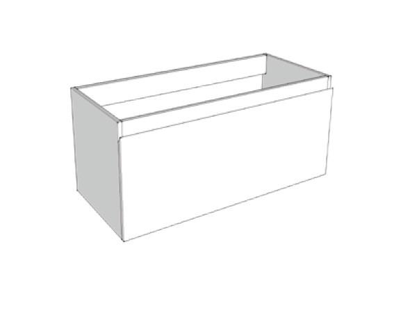 Riverdale onderkast greeploos hout fineer enkele lade softclose met 45 graden greep 120x35x45 cm, zo