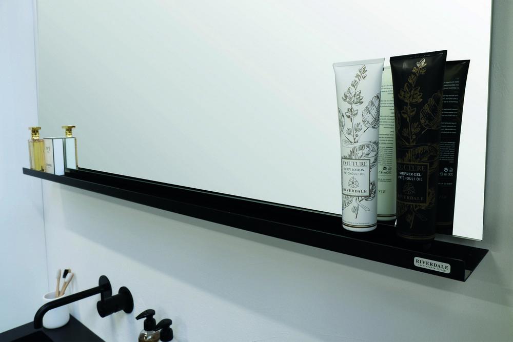 Riverdale spiegel op frame met LED boven- en onderverlichting 70x60x3 cm, aluminium