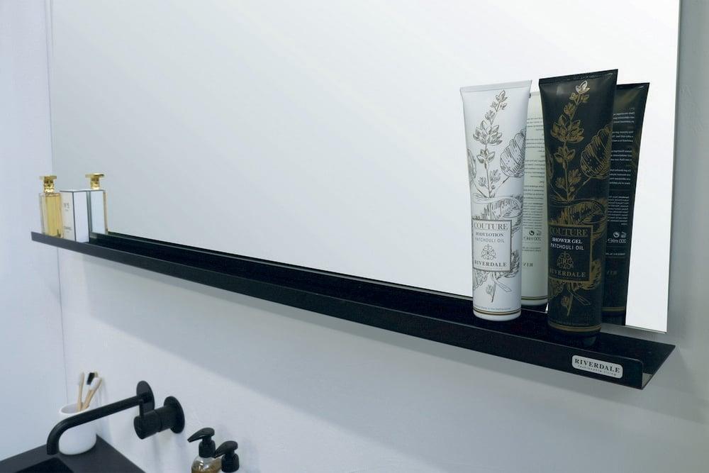 Riverdale spiegel rechthoek op frame 100x60x3 cm, aluminium