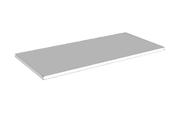 Riverdale polystone designplateau 140x2x45 cm, mat wit