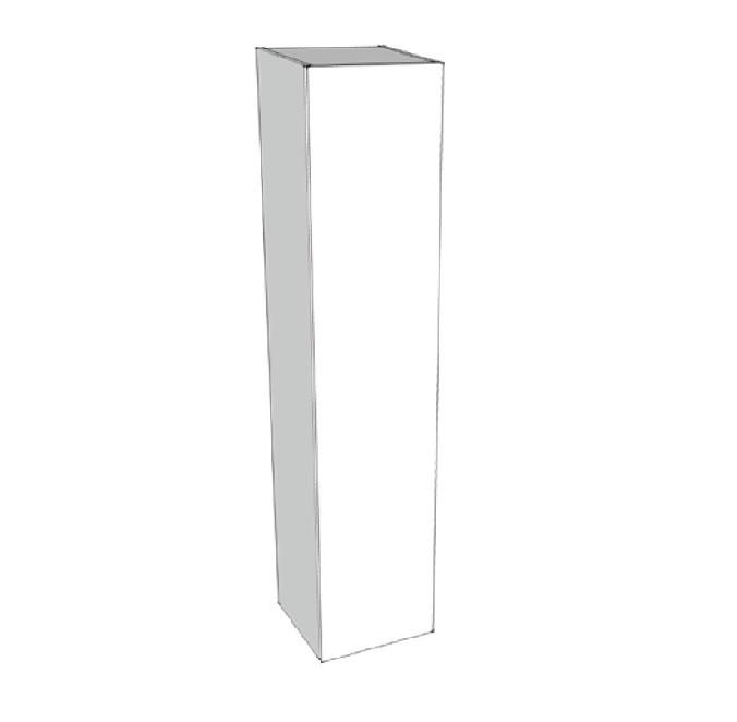 Riverdale hoge kast greeploos gelakt met 45 graden greep aan 1 zijde van de deur inclusief 4 glazen