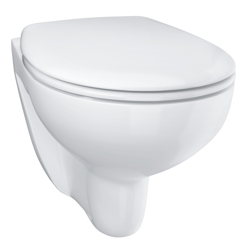 GROHE Bau Ceramic hangend toilet randloos met toiletzitting softclose, Alpine wit