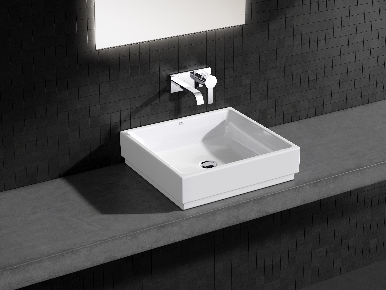 GROHE Cube Ceramic waskom zonder overloop 50x47 cm PureGuard, wit