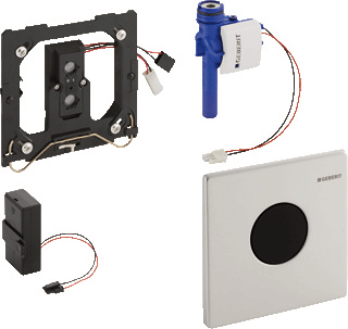 Productafbeelding van Geberit Sigma 01 urinoir stuursysteem infrarood 2 knops met batterijvoeding mat chroom 116.031.46.5