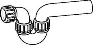 Geberit PE sifon in/uitlaat horizontaal ø 40/40 mm