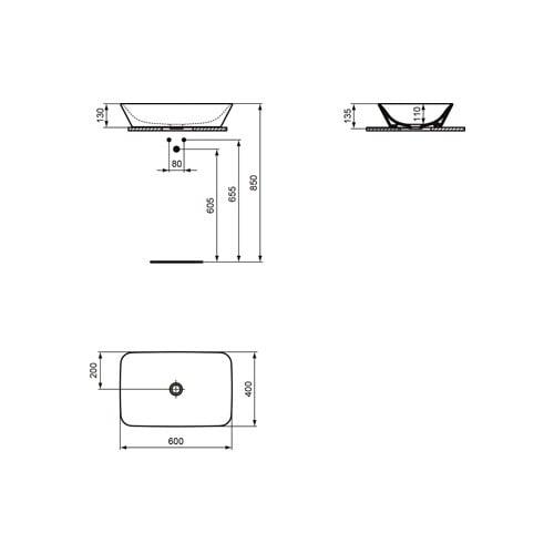 Ideal Standard connair wastfl 60x40cm