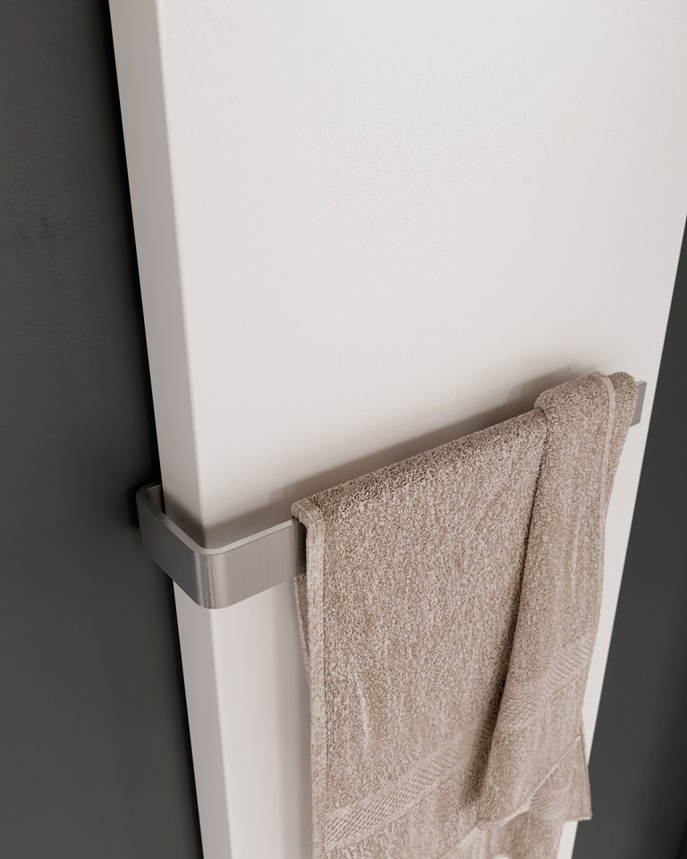 Instamat handdoekhouder voor Stretta radiator 470 mm, geborsteld RVS