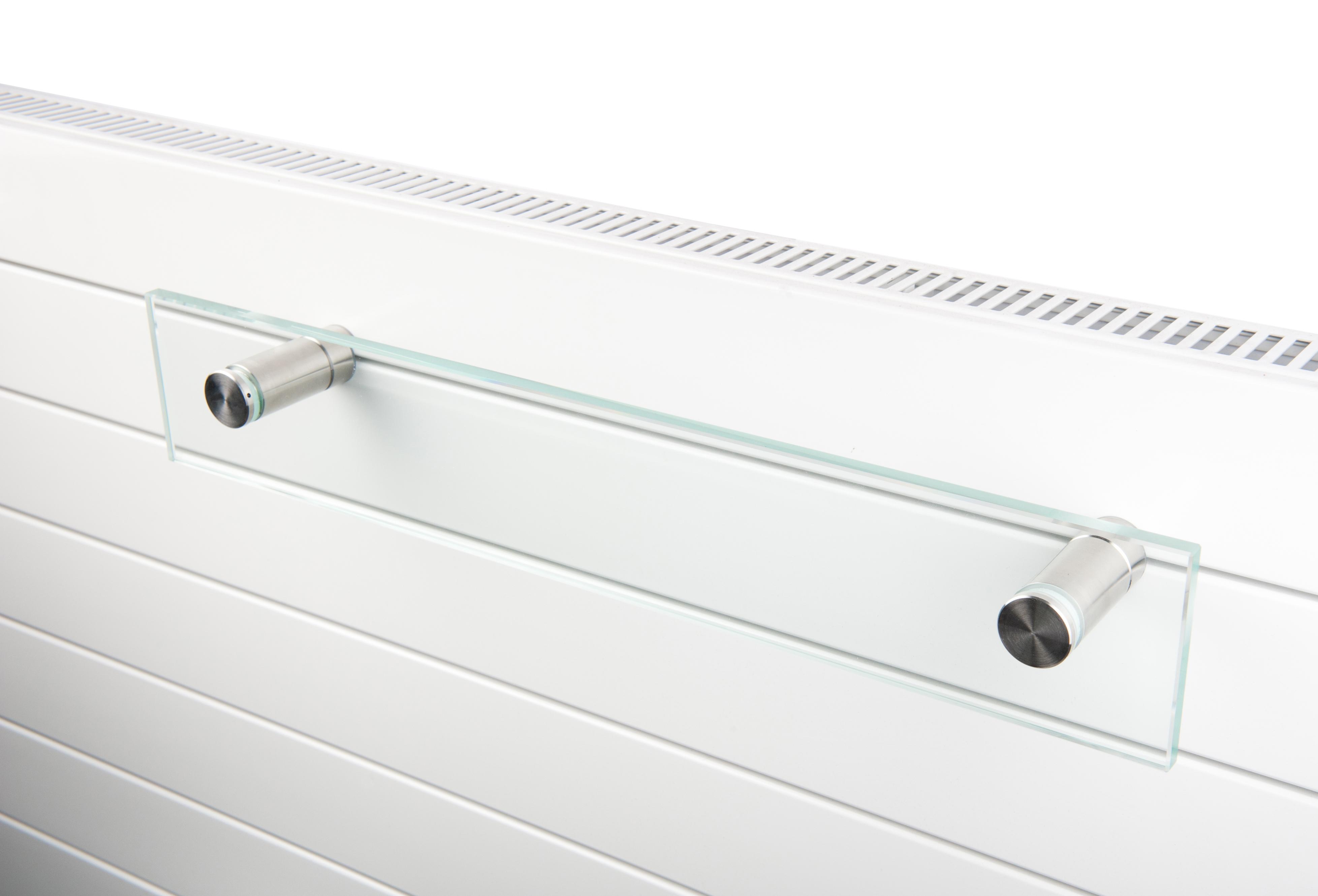 Instamat glazen handdoekrek 560 mm voor TH/TV paneelradiatoren en Instamat Deco, RVS houders