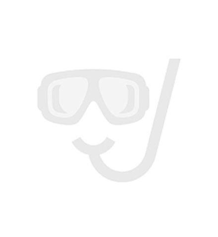 Sub Flow wastafelkraan 14,6 cm rechte uitloop met clickwaste, brush brass