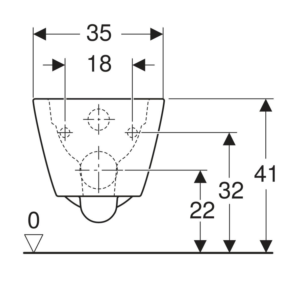 Productafbeelding van Geberit Smyle Square wandcloset diepspoel rimfree 35x54cm wit 500.208.01.1