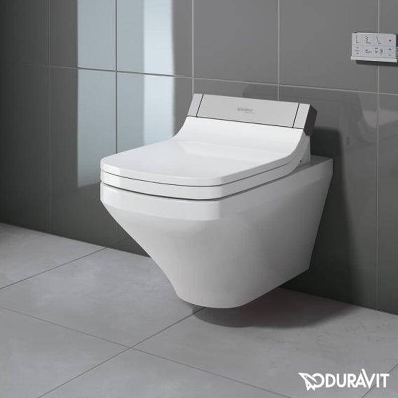 Productafbeelding van Duravit DuraStyle wandcloset diepspoel 37x62cm WonderGliss voor SensoWash closetzitting, wit
