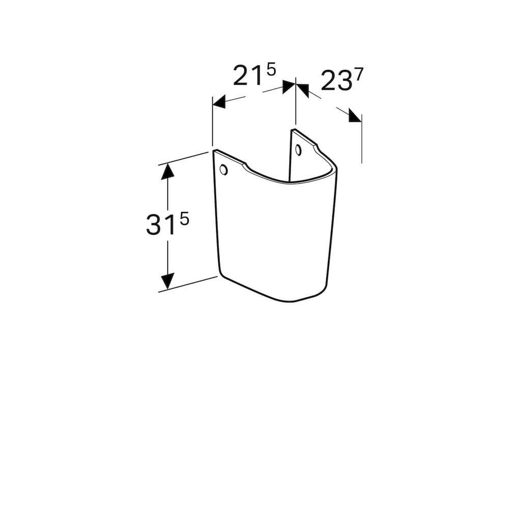Geberit Renova compact sifonkap, wit