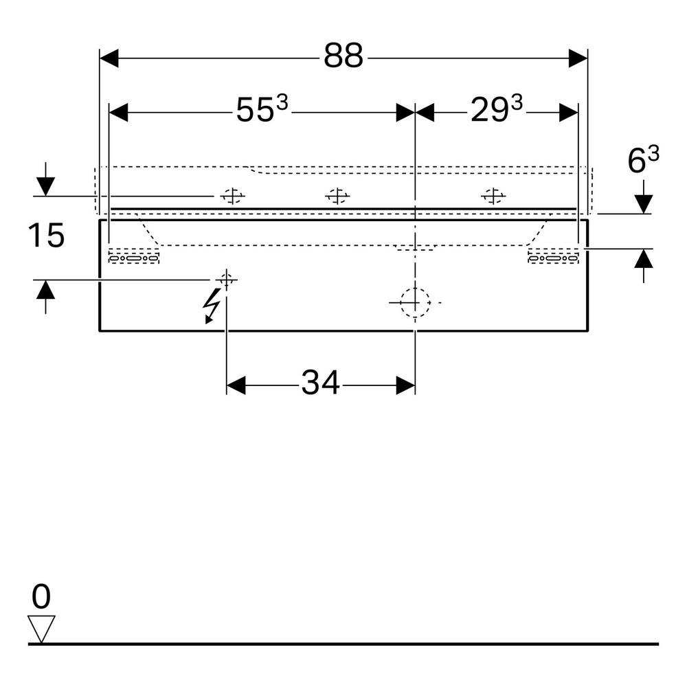 Geberit Xeno2 wastafelonderkast 1 lade 88x22 cm, greige