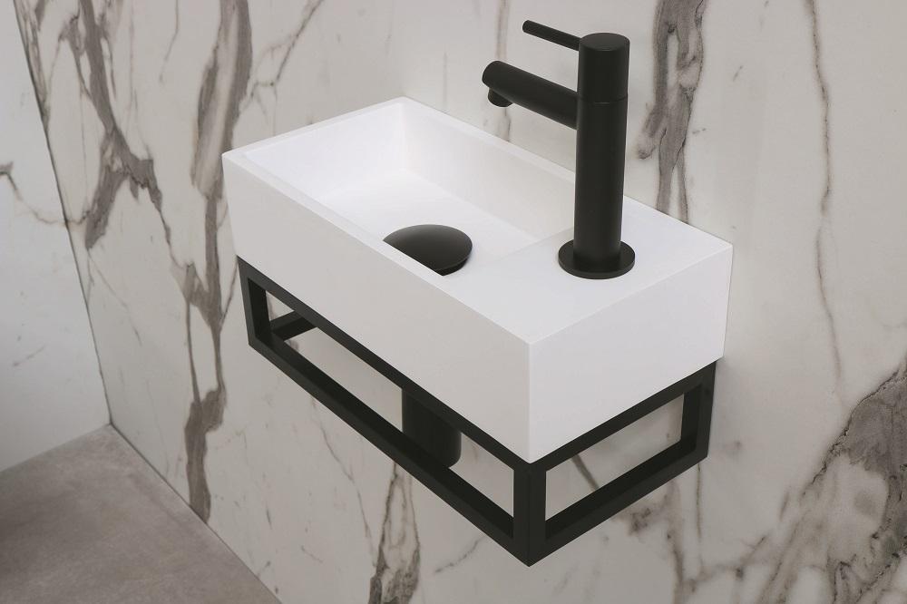 INK Versus frame, staal, geschikt voor fontein 360x90x180 mm, mat zwart