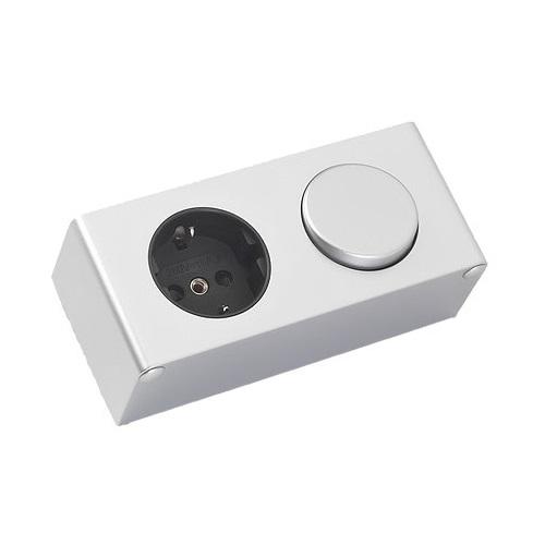Proline Schakelaar - stopcontact tbv spiegelkast, alu