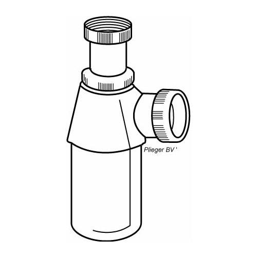Viega bekersifon z. muurbuis 6/4 z. rozet chroom