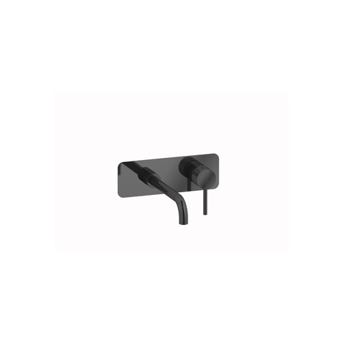 Plieger Roma ééngreeps inbouw wastafelkraan 21,9 cm, zwart/chroom