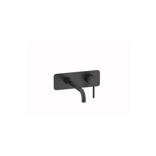 Plieger Roma ééngreeps inbouw wastafelkraan 21,9 cm, geborsteld zwart/chroom