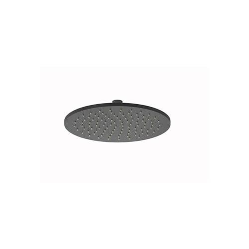 Plieger Roma hoofddouche rond Ø25 cm, geborsteld zwart/chroom