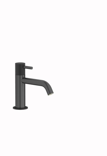Plieger Roma toiletkraan met vaste uitloop, geborsteld zwart chroom