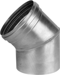Productafbeelding van Burgerhout Alu-fix rookgasafvoerbocht Ø110mm 45° Aluminium dikwandig segment gelast