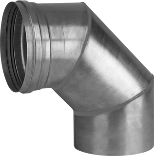 Burgerhout Alu-fix rookgasafvoerbocht Ø150mm 90° Aluminium dikwandig segment gelast