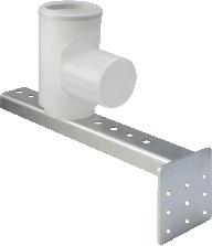 Ubbink Rolux rookgasafvoerbocht m. schoorsteensteun T120 PP, vlak 0718054