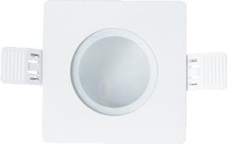 Interlight frame vierkant IP65 t.b.v. LED module MR16 90mm niet kantelbaar wit ILF90SIPW