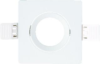 Interlight frame vierkant IP20 t.b.v. LED module MR16 90mm kantelbaar wit ILF90SW
