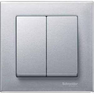 Productafbeelding van Schneider Electric Merten System M wiptoets dubbel aluminium