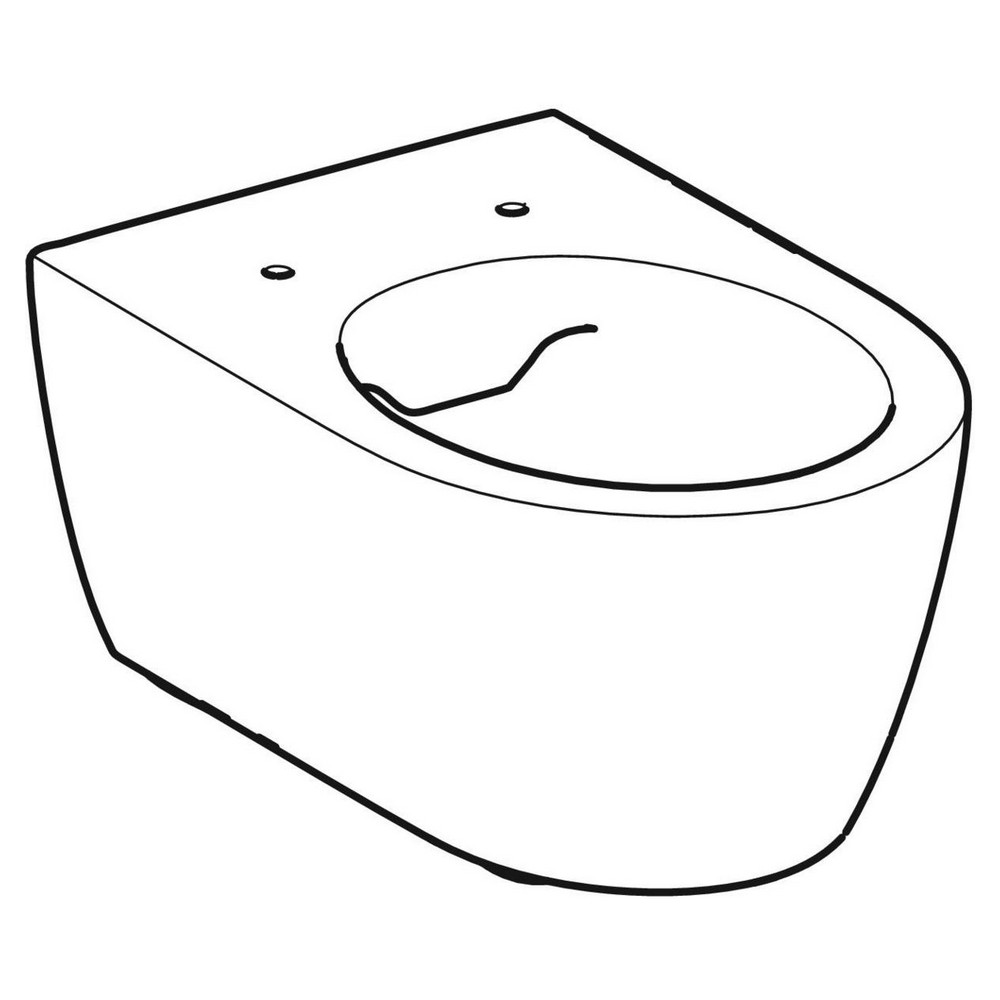 Productafbeelding van Geberit iCon wandcloset 35.5x53cm spoelrandloos diepspoel 3-6L keratect wit 501661008