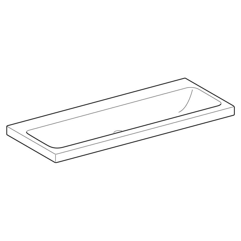 Geberit iCon Light wastafel 120x48 cm, zonder kraangat, zonder overloop, met KeraTect, wit