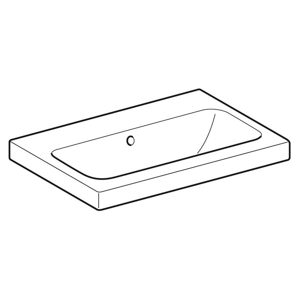 Productafbeelding van Geberit iCon Light wastafel 60x42 cm, zonder kraangat, met overloop, met KeraTect, wit