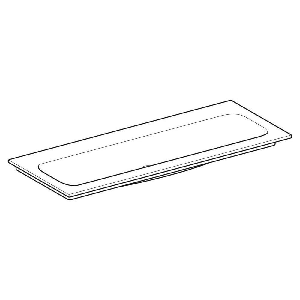 Geberit iCon meubelwastafel 120x48 cm, zonder kraangat, zonder overloop, met KeraTect, wit