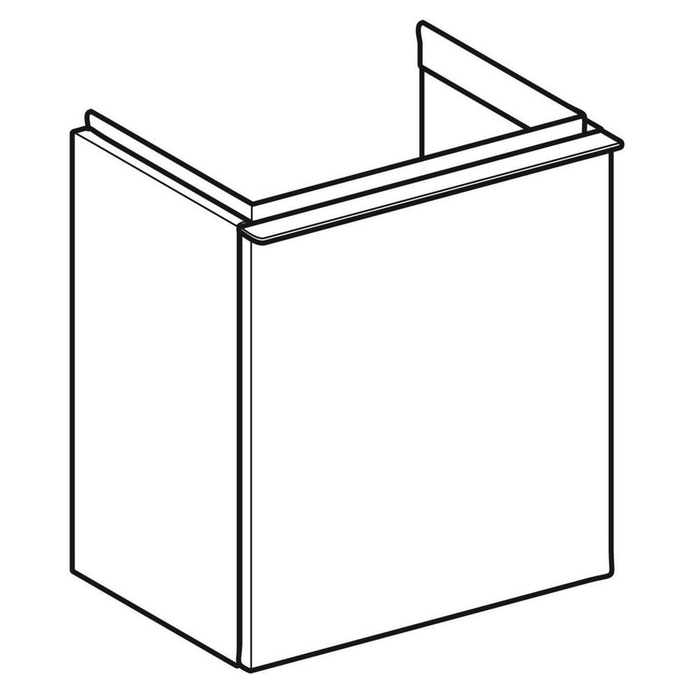 Geberit iCon fonteinonderkast 1 deur rechts 37x28 cm, noten hickory